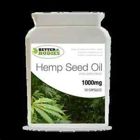 better bodies supplements hemp seed 1000mg omega 3 6 9 tocopherol 50 capsule