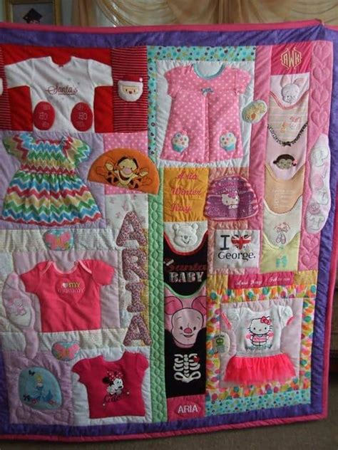 quilt pattern with baby clothes diy baby clothes memory quilt pattern video tutorial
