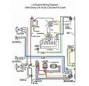 ELECTRIC L 6 Engine Wiring Diagram  60s Chevy C10
