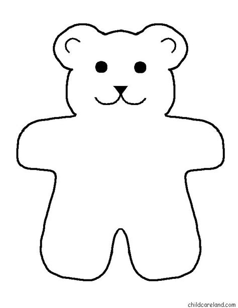 free teddy template free printable teddy patterns wow image
