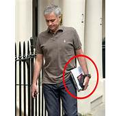 Jose Mourinho Holding A Note Pad With The Words I Have Never Heard