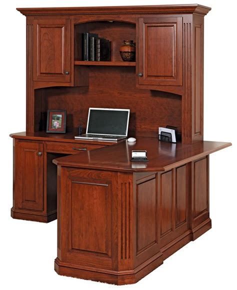 buckingham corner desk with optional hutch top from