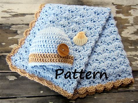 Free Crochet Patterns For Babies Blankets by Crochet Baby Boy Blanket Free Patterns Crochet And Knit
