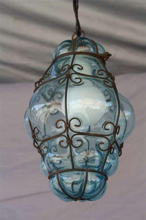 Venetian Glass Pendant Light 20th Century Venetian Glass Pendant At 1stdibs