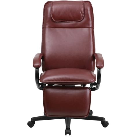 high back recliner high back burgundy leather executive reclining office