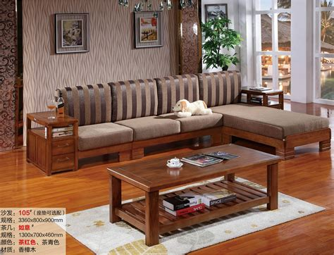wooden living room furniture 2016 new l shaped sofa chaise chor wood living