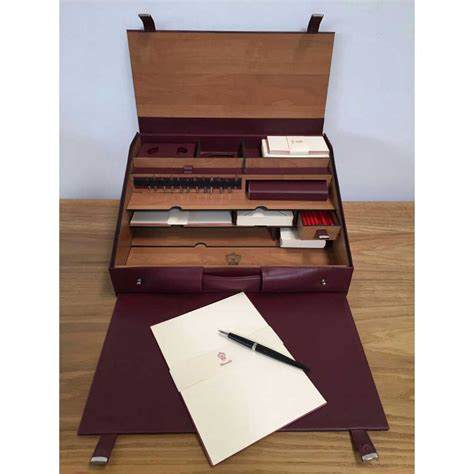 Pineider 1949 Travel Writing Desk Set Stationery Pens Travel Desk For