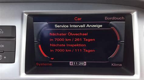 Kundendienst Audi by Audi A6 Serviceanzeige N 228 Chster Service 214 Lwechsel