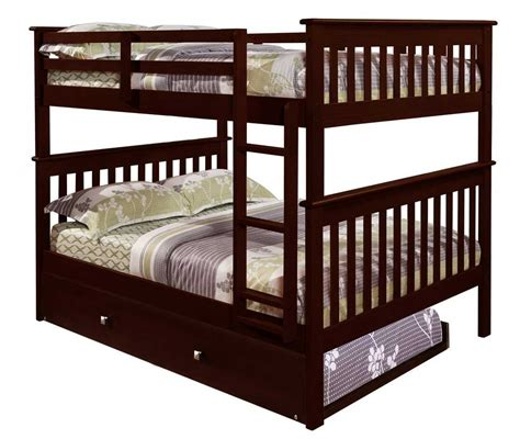 bunk bed with trundle 3 best full over full bunk beds with reviews home best
