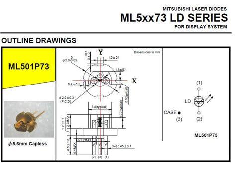 mitsubishi laser diode 635nm 638nm 500mw laser diode mitsubishi ml501p73 high power burning laser pointers dpss laser