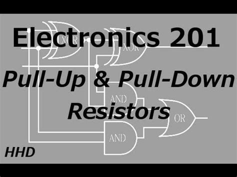 definition of pull up resistor electronics 201 pull up and pull resistors