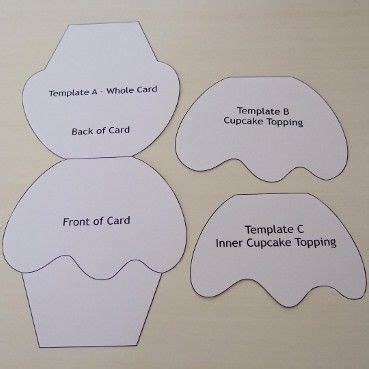 cupcake card template  tutorial card making templates