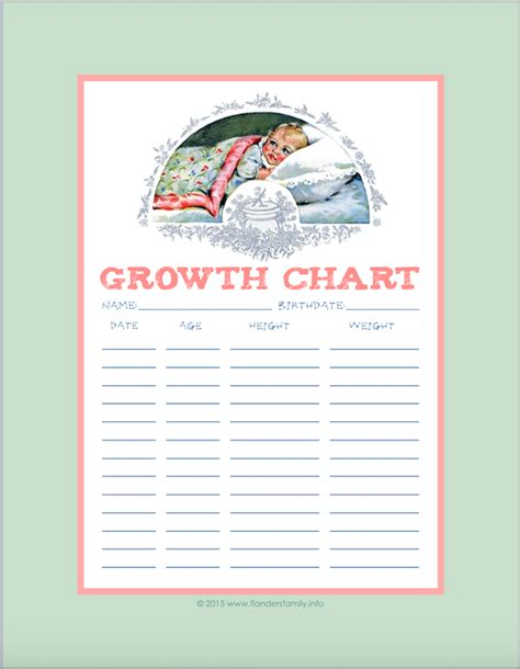 printable children s growth chart children s growth charts free printable flanders