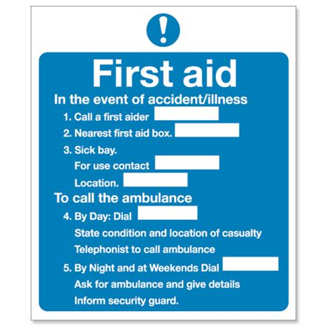 stewart superior sign first aid sign w230xh195mm self