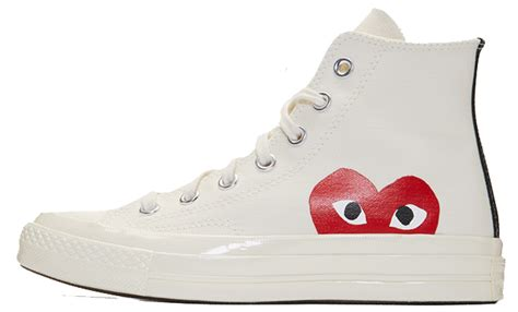 Jual Converse X Cdg comme des garcons play x converse chuck all 70 hi white the sole supplier