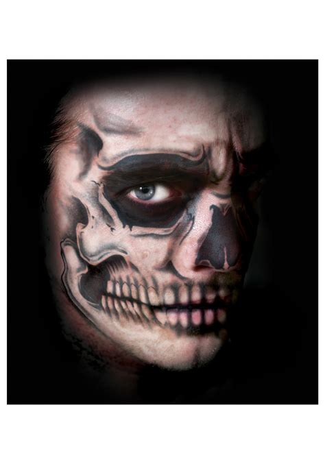 skeleton face tattoo skull temporary