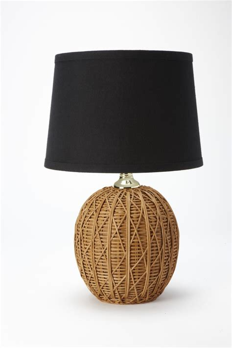 Nate Berkus Woven Rattan L Base With Black Linen