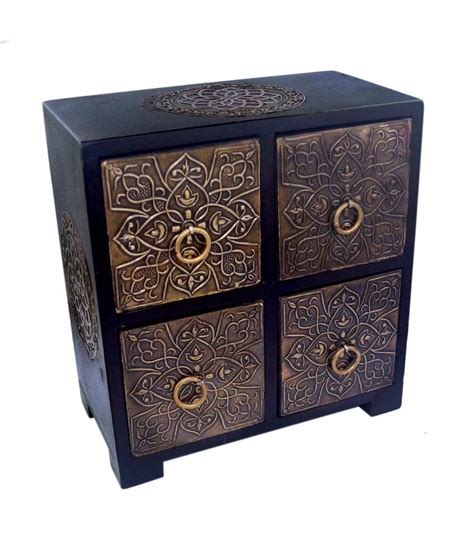 wooden home decoration r s jewels wooden home decor ceramic 4 drawers buy r s