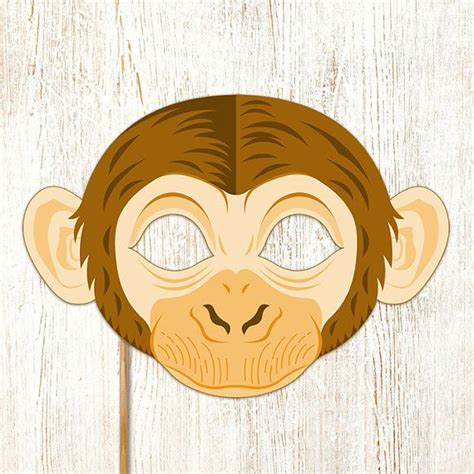 printable cheetah mask monkey mask printable animal chimpanzee masks childrens