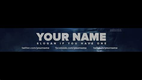 free call of duty ghosts one channel banner template