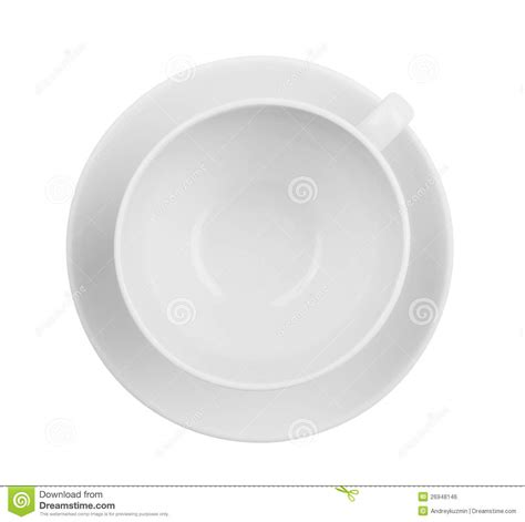best tea cup empty coffee or tea cup top view isolated stock photo