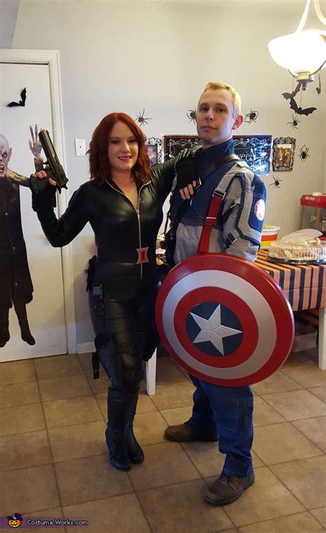 black widow  captain america couple costume