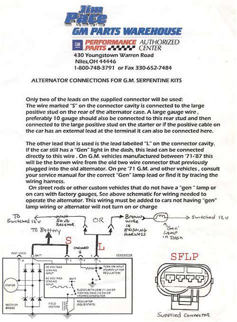 ls alternator connector wiring question lstech camaro  firebird forum discussion