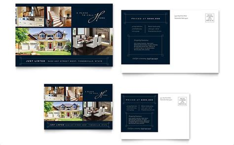 real estate postcard templates free free postcard template 28 free psd vector eps ai
