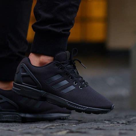 black zx flux adidas zx flux triple black zxflux tripleblack sneakers