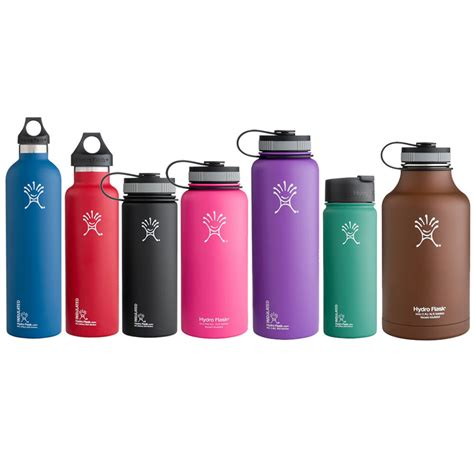 hydroflask colors hydro flask insulated water bottles your size cap