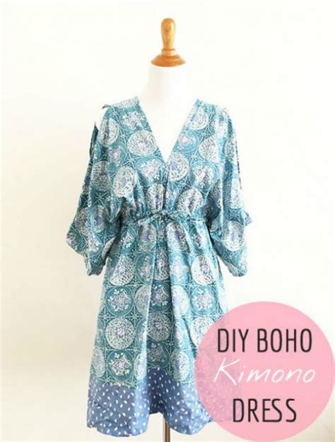 sewing pattern kimono dressing gown reader tutorial boho kimono dress pattern and sew we craft