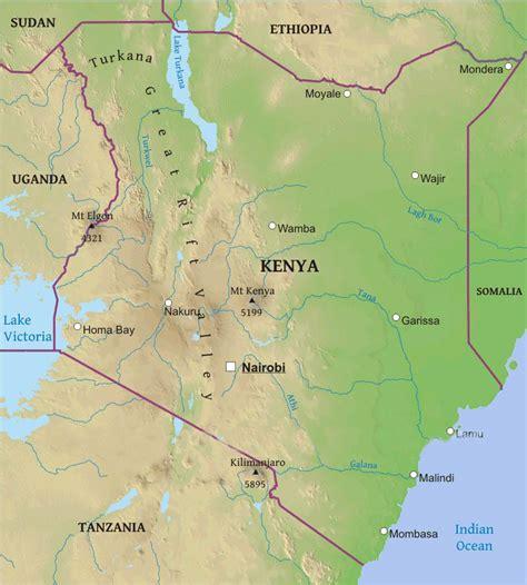 map of kenya africa maps of kenya bizbilla