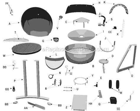 Char Broil Patio Bistro Parts by Char Broil 11601558 Parts List And Diagram