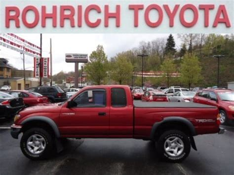Rohrich Toyota Used 2001 Toyota Tacoma Trd Xtracab 4x4 For Sale Stock