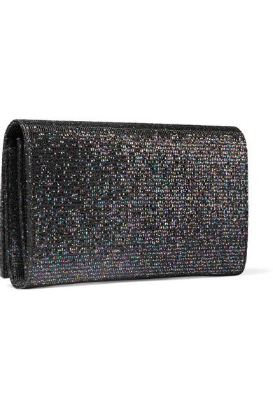 Glittered Shoulder Bag laurent monogramme glittered canvas shoulder bag