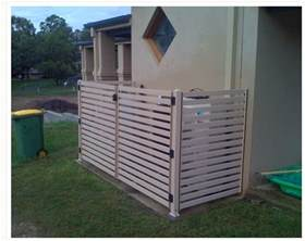 pool equipment box shed enclosure pool equipment