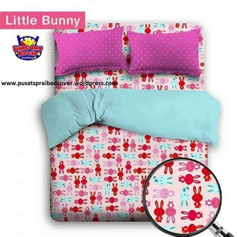 Overall Anak Flower Leopard F843 Merah motif anak album 1 sprei bed cover