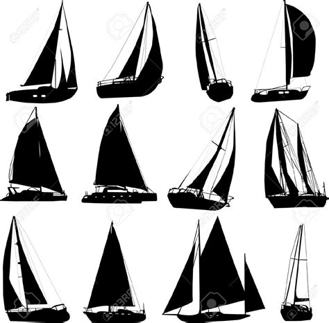 dessin bateau laser 5535783 sailing boat silhouettes vector stock vector boat