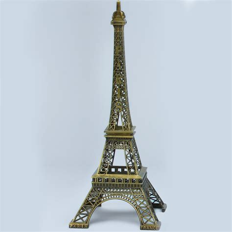 Gold Eiffel Tower Vases by Metal Eiffel Towers Antique Gold