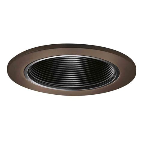baffle trim recessed lighting halo 6 in satin nickel recessed lighting with black