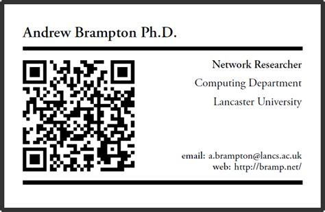 latex template for business card latex qr based business card