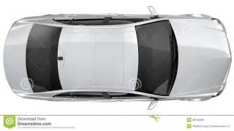 car plan view silver car top view royalty free stock image image
