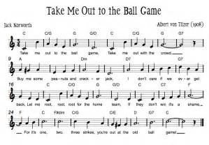 Beth s music notes take me out to the ball game