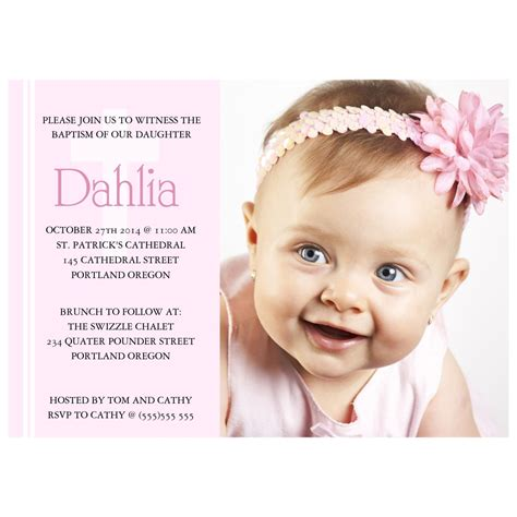 baptism invitation card baptism invitation card template