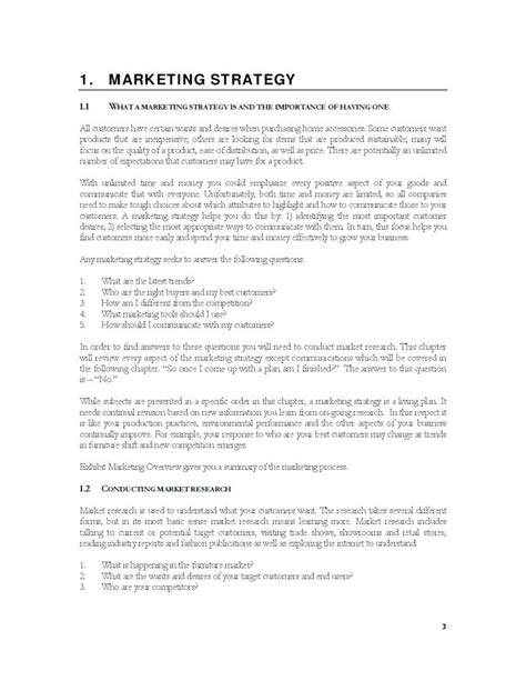 Template Retail Marketing Plan Template Local Store Marketing Plan Template