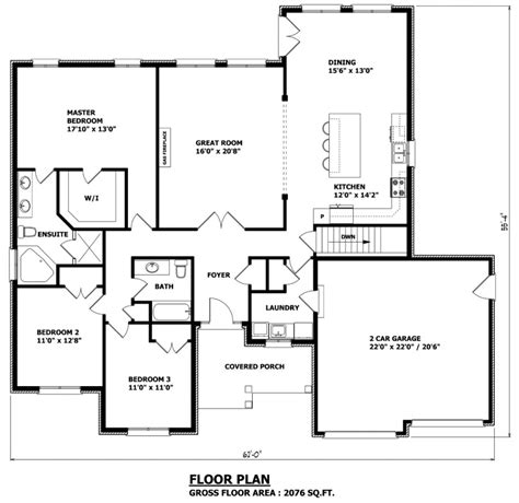 House Plans Canada Stock Custom Floor Plan Elevation Bungalow House