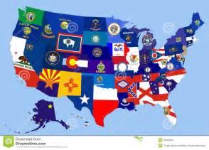 usa map with flag usa states flag map stock illustration image 55698541