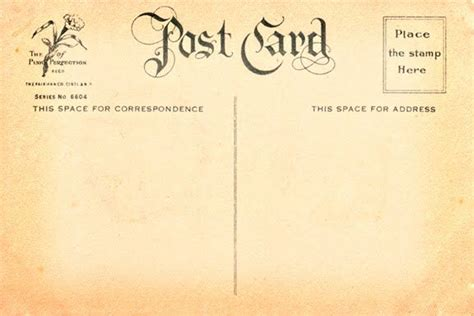 french postcard template to download vintage postcard
