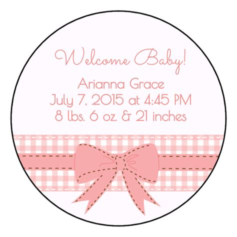 baby shower label templates get free downloadable baby