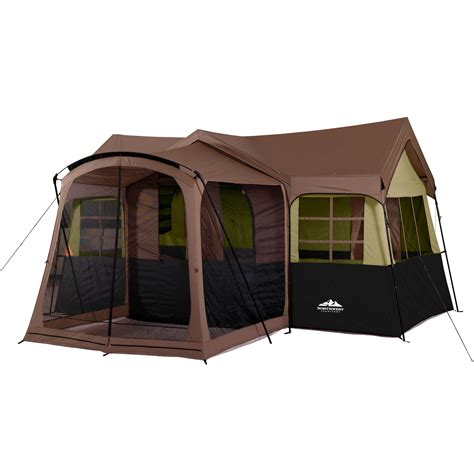 northwest territory family cabin  screen porch tent